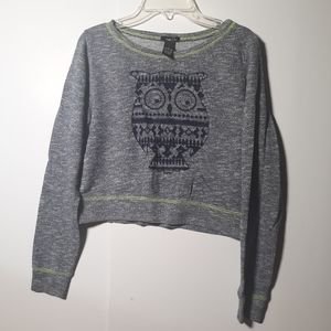 Rue21 cropped long sleeve top M